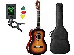 Violão Harmonics Clássico Cordas Nylon Gna-111 Sunburst Capa Cabo