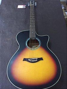 Violão Elétrico Aço Tagima Woodstock Tw29 Jumbo Sunburst