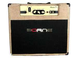 Amplificador Valvulado Borne Clássico T7 cor creme para guitarra