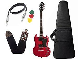 Guitarra sg Epiphone Ve special Ebony Vermelho + capa cabo