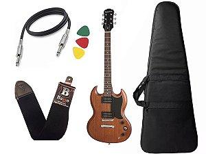 Guitarra sg Epiphone Ve special Walnut Madeira + capa cabo