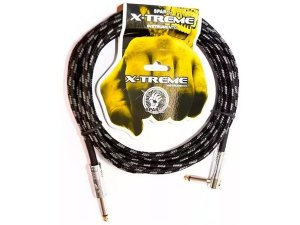 Cabo 5 Metros Sparflex Textil P10 P10 90 Plug L Guitarra Baixo Violao