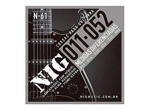 Encordoamento Guitarra Aço 011 052 Nig N61 Tradicional Corda