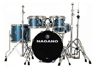 Bateria Nagano Garage Gig Bumbo 18 10 12 13 14 ocean sparkle azul