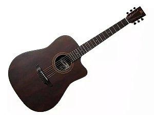 Violão Folk Elétrico Rozini Rx315 Louro Preto Fosco Brasil