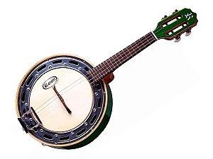 Banjo Rozini Rj11 Elétrico Verde Studio Cxlarga Profissional