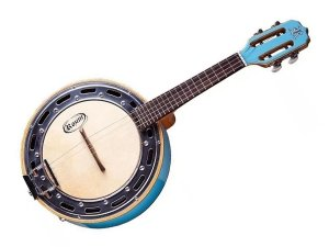 Banjo Rozini Azul Elétrico Caixa Larga Profissional