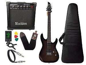 Guitarra Tagima Memphis Mg260 Preto Transparente cubo sheldon