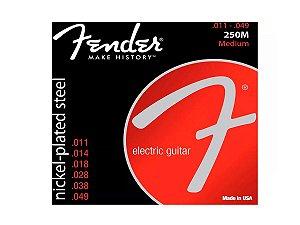 Encordoamento Para Guitarra 011 Fender 250m Niquelado