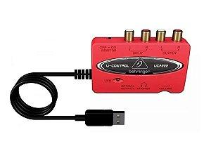 Interface De Áudio Behringuer Usb U-control Uca222
