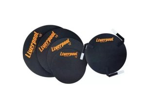 Abafador Liverpool caixa tom surdo 10 12 14 16 Bumbo 22