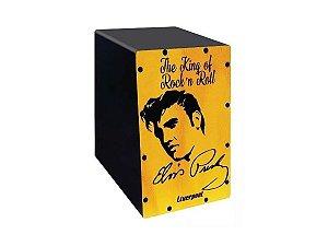 Mini Cajon Estampa Elvis Presley Liverpool Cajon De Dedo