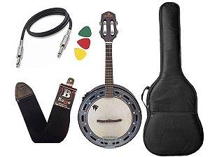 Banjo Eletrico Marques castanho BAJ87 capa afinador