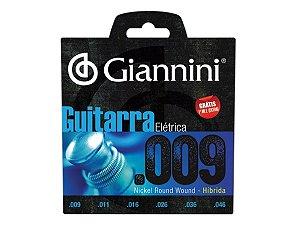 Encordoamento Guitarra 09 / 046 Hibrida Giannini Níquel