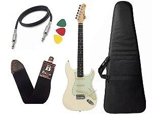 Guitarra Tagima Tg500 Strato Olympic White Branco Capa Cabo