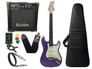 Guitarra Tagima Tg500 Roxo Metalico Purple cubo Sheldon