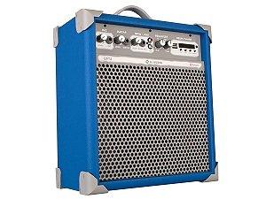 Caixa De Som Multiuso Up 8! Sky Blue Ll Audio Fm/bluetooth
