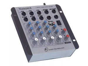 Mesa De Som Mixer Ll Audio Nanomix Na402r 4 Canais