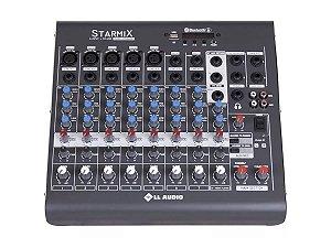 Mesa De Som 8 Canais Ll Audio Starmix Xms802r Usb Bluetooth