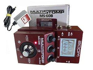 Pedaleira Baixo Zoom Ms-60b Pedal Multiefeitos Com Fonte