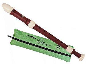 Flauta Yamaha Doce Contralto Barroca Yra312b com capa bag
