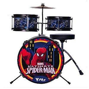 Bateria Infantil Criança Phx Spider Homem Aranha Azul Bim-s1