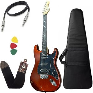 Kit Guitarra Phx Strato Power St H Sth Vermelho Bag