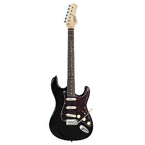 Guitarra tagima t635 preta escala escura escudo tortoise