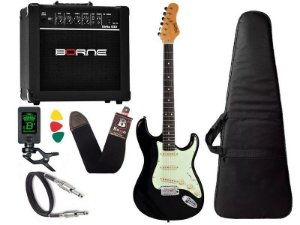 Kit guitarra tagima t635 Preta Escuro amplificador borne
