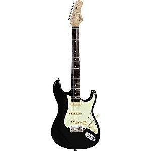 Guitarra Tagima t635 preta escala escura escudo mint green