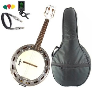 Kit Banjo Elétrico Rozini Rj11 Branco Profissional Bag Capa