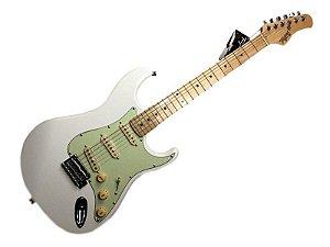Guitarra tagima t635 Branca escala clara escudo mint green