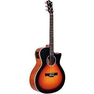 Violão Elétrico Aço Tagima Woodstock Tw29 Sunburst