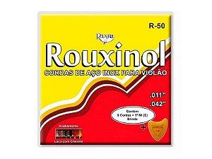 Encordoamento Violão Rouxinol R50 Aço Bronze C/ Bolinha