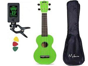 Kit Ukulele Soprano Mahalo Mr1 Verde Aquila capa afinador MR1GN
