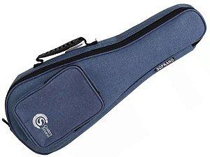 Capa Bag Ukulele Soprano acolchoado Confort Custom Sound azul escuro