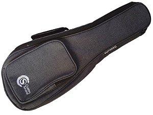 capa Bag Ukulele Soprano acolchoado Confort Custom Sound cinza