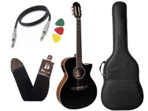 Kit Violão Nylon Tagima Woodstock Tw27 Preto Bag