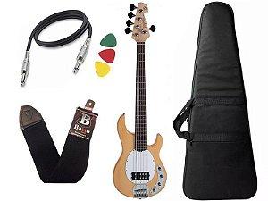 Kit Baixo Ativo Tagima Tbm5 Music Man Tbm 5 Natural Capa Bag