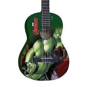 Violão Infantil Hulk avengers Marvel Phx Vim-h1 verde
