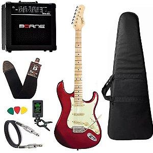 Kit guitarra tagima t635 Vermelho escala Clara cubo borne
