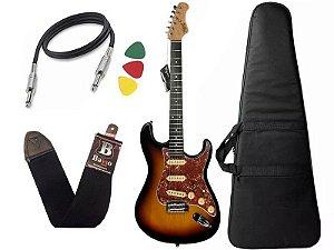 Kit Guitarra tagima t635 Sunburst escala escura escudo Tortoise