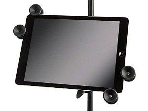 Suporte tablet celular Universal Regulável Pedestal microfone