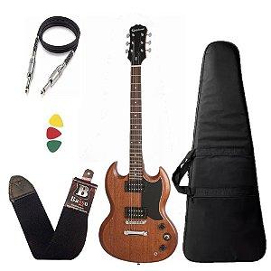Kit Guitarra sg Epiphone Ve special Walnut Madeira + capa Bag - Regulado