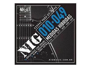 Encordoamento Guitarra Aço 010 049 Nig Nh67 Híbrida Corda (Mi) Brinde + Palheta