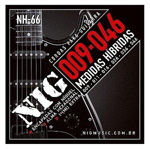 Encordoamento Guitarra Aço 09 046 Nig Nh66 Híbrida Corda (Mi) Brinde + Palheta