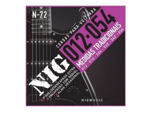 Encordoamento Guitarra Aço 012 054 Nig N72 Tradicional