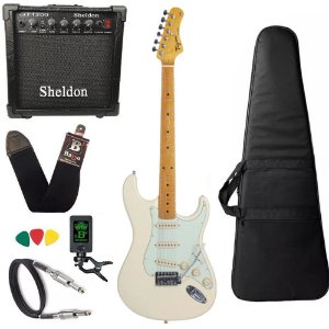 kit Guitarra Tagima TG530 Branco Vintage OWH Cubo Sheldon