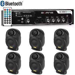"Kit Som Ambiente Borne Rc5000 Usb Fm + 6 Elips LL audio 4"""