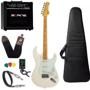 kit Guitarra Tagima TG530 Branco Vintage OWH Cubo Borne G30